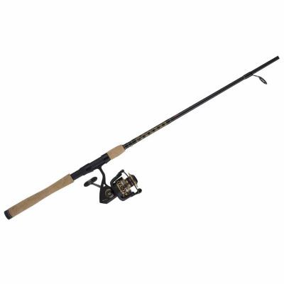 Penn Battle II Spinning Combo 2500 6.2:1 Gear Ratio 7' 1 Piece Rod 6-12 lb Line Rate Medium/Light Power