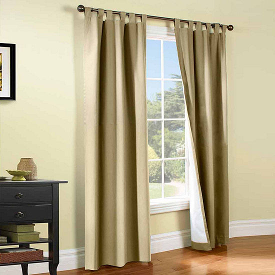 Weathermate Energy Saving Light-Filtering Tab-Top Set of 2 Curtain Panel