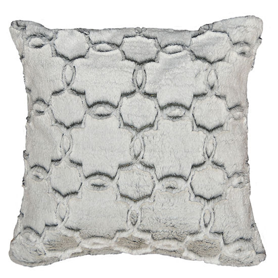 Tile Fur Square Throw Pillow 2 Pack