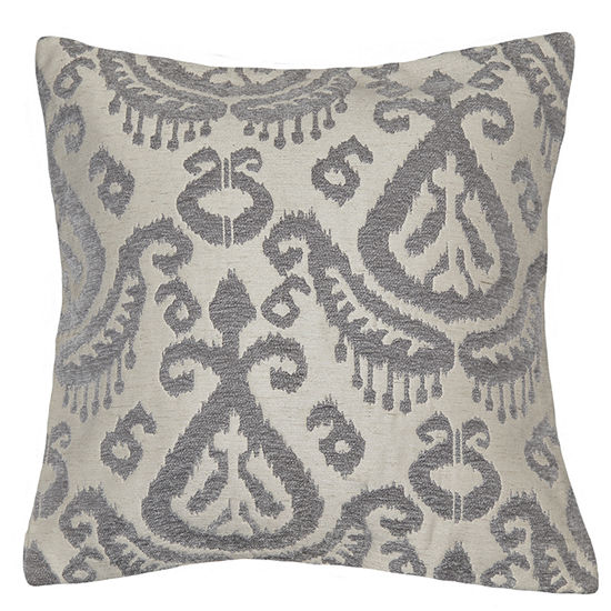 Ikat Square Throw Pillow
