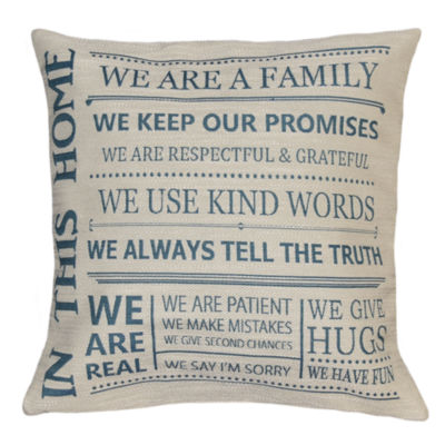 In This Home Square Throw Pillow