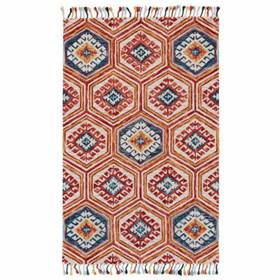 Room Envy Calendra Geotric Hand Tufted Rectangular Rugs