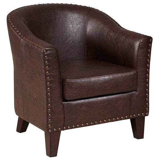 Meridian Pee Nailhead Trim Club Chair