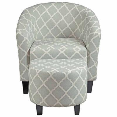 Home Meridian Petite Chair + Ottoman Set