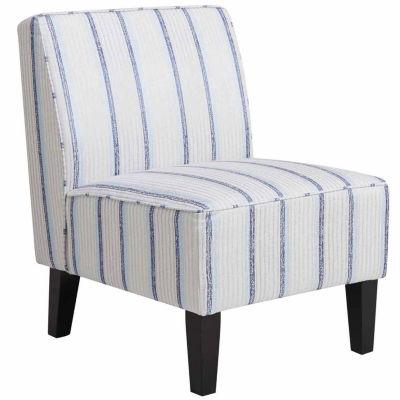 Home Meridian Striped Slipper Chair