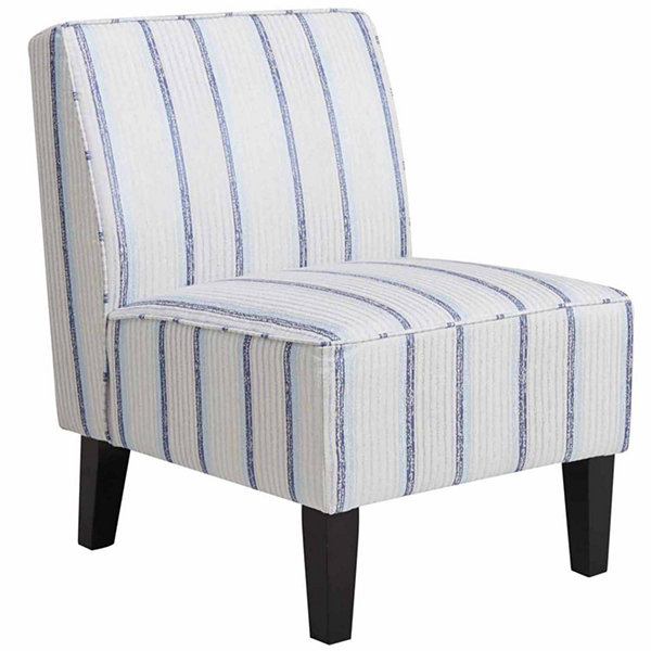 Beautiful Home Meridian Striped Slipper Chair