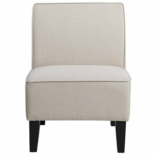 Home Meridian Solid Slipper Chair