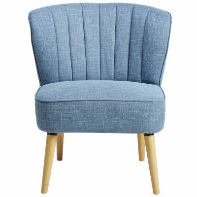 Home Meridian Channeld Back Slipper Chair
