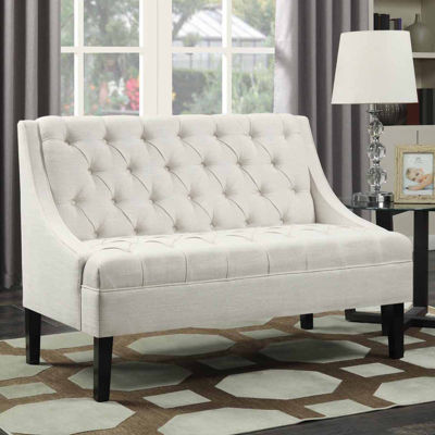 Home Meridian Scoop Arm Settee