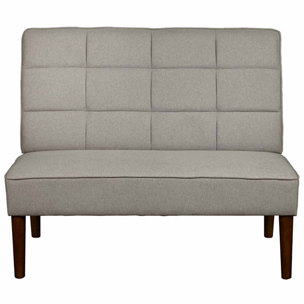 Home Meridian Geometric Quilted Settee