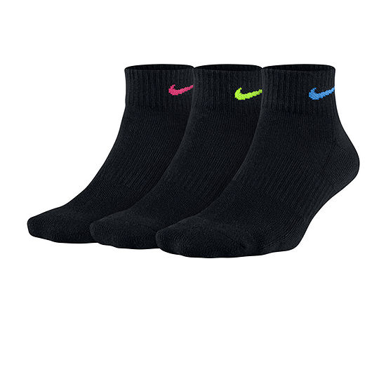 Nike 3 Pack Quarter Socks - Womens