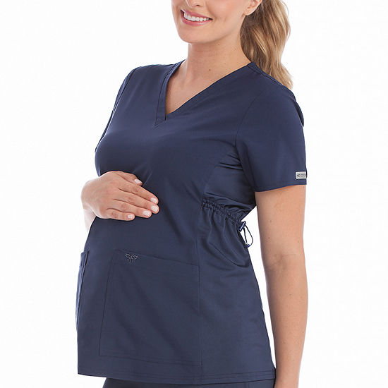 Med Couture 8459 Plus One Maternity V-neck Scrub Top