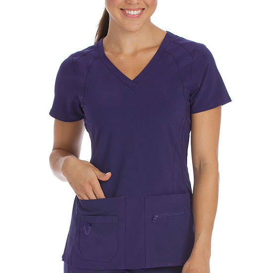 Med Couture 8416 Activate Refined V-neck Scrub Top - Plus