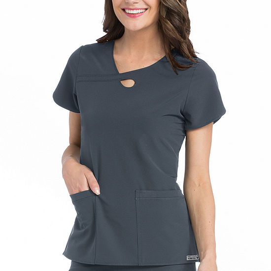 Med Couture 3408 4-Ever Flex Lola Keyhole  Scrub Tops