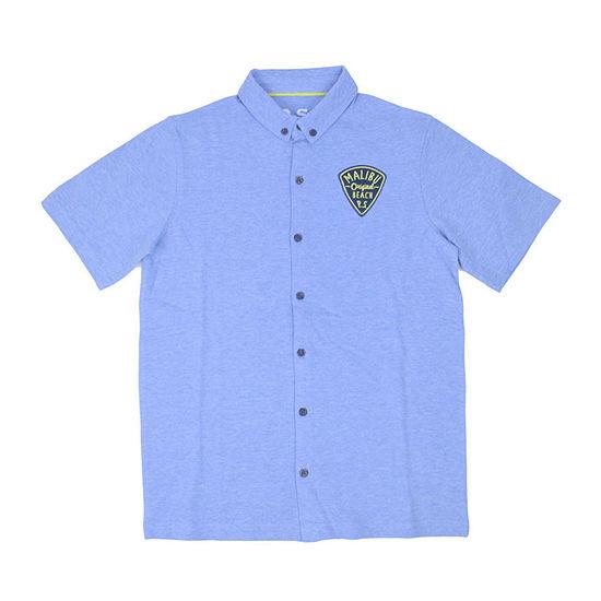 Ps Aeropostale Big Boys Short Sleeve Button-Down Shirt