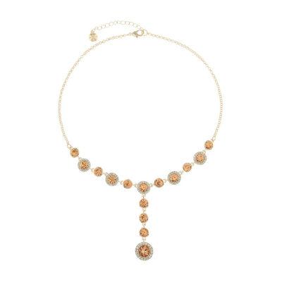 Monet Jewelry Womens Orange Y Necklace