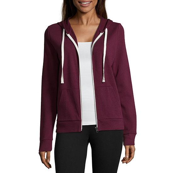 Flirtitude Long Sleeve French Terry Hoodie- Juniors