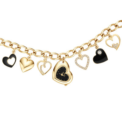 Armitron Armitron Womens Gold Tone Bracelet Watch-75/5666bkgp