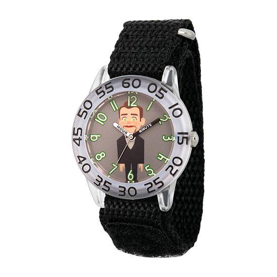 Disney Toy Story Boys Black Strap Watch-Wds000704
