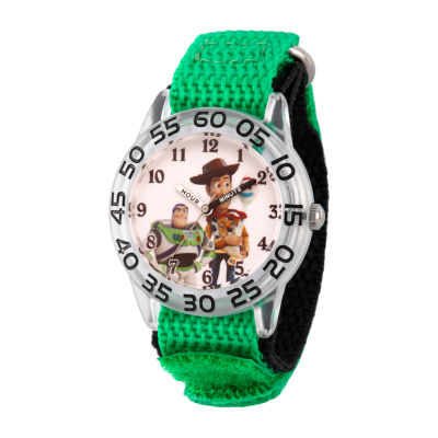 Disney Toy Story Boys Green Strap Watch-Wds000706