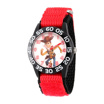 Disney Boys Red Strap Watch-Wds000707