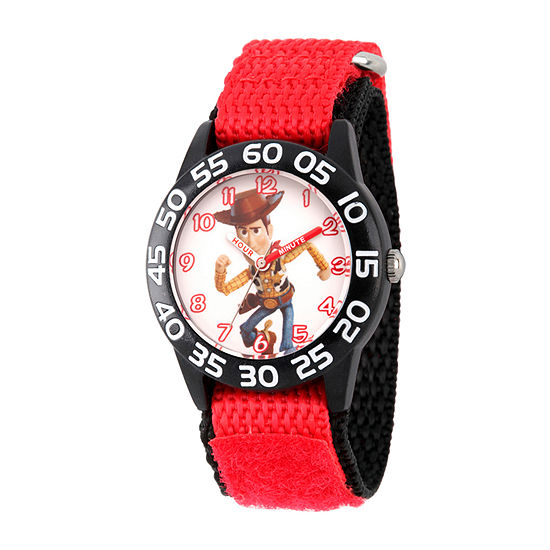 Disney Boys Red Strap Watch-Wds000707