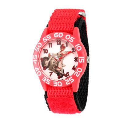 Disney Toy Story Boys Red Strap Watch-Wds000710