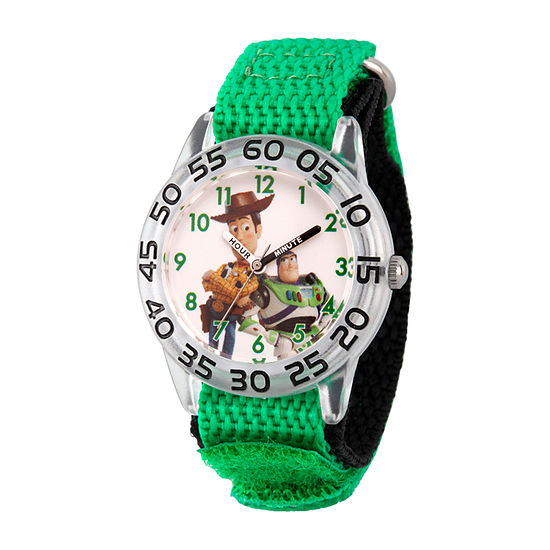 Disney Boys Green Strap Watch-Wds000711