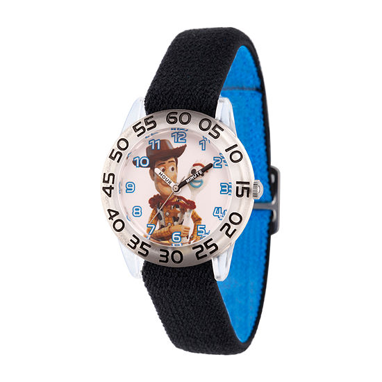 Disney Toy Story Boys Black Strap Watch-Wds000712