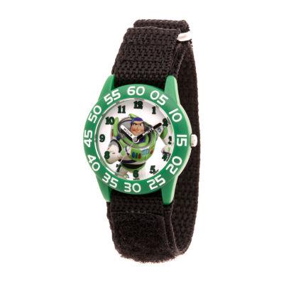 Disney Toy Story Boys Black Strap Watch-Wds000713