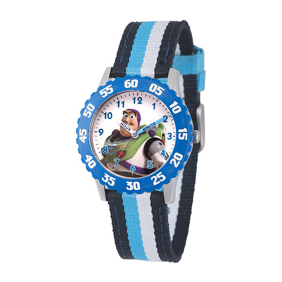 Disney Toy Story Boys Blue Strap Watch-Wds000715