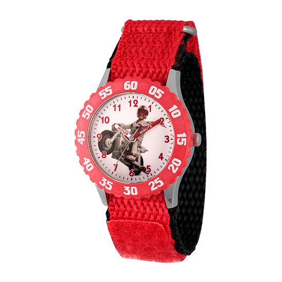 Disney Toy Story Boys Red Strap Watch-Wds000716