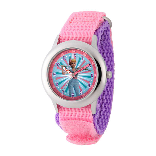 Disney Toy Story Girls Pink Strap Watch-Wds000718
