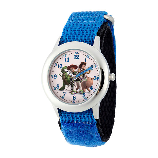 Disney Toy Story Boys Blue Strap Watch-Wds000719