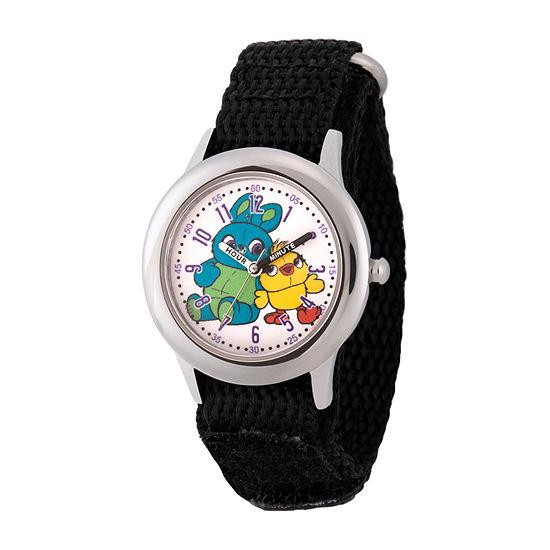 Disney Toy Story Boys Black Strap Watch-Wds000720