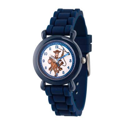 Disney Toy Story Boys Blue Strap Watch-Wds000721