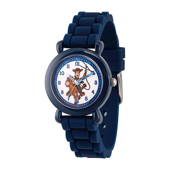 Disney Time Teacher Toy Story Boys Blue Strap Watch-Wds000721