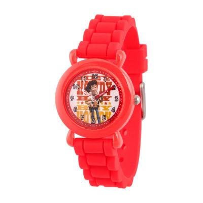 Disney Toy Story Boys Red Strap Watch-Wds000722