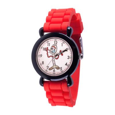 Disney Toy Story Boys Red Strap Watch-Wds000723