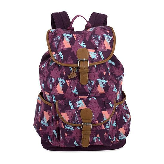 Emma & Chole Cotton Canvas Drawstring Backpack