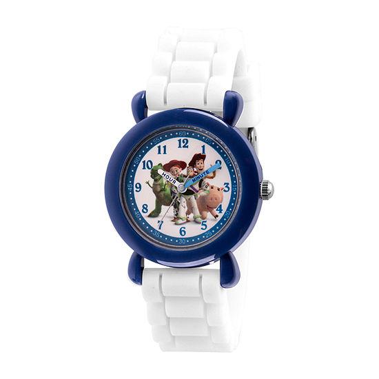 Disney Toy Story Boys White Strap Watch-Wds000726