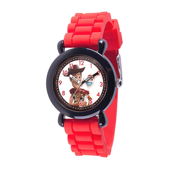 Disney Toy Story Boys Red Strap Watch-Wds000729