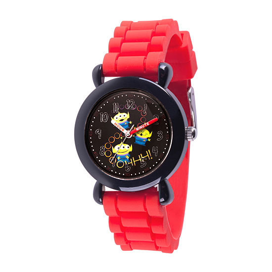 Disney Toy Story Boys Red Strap Watch-Wds000733