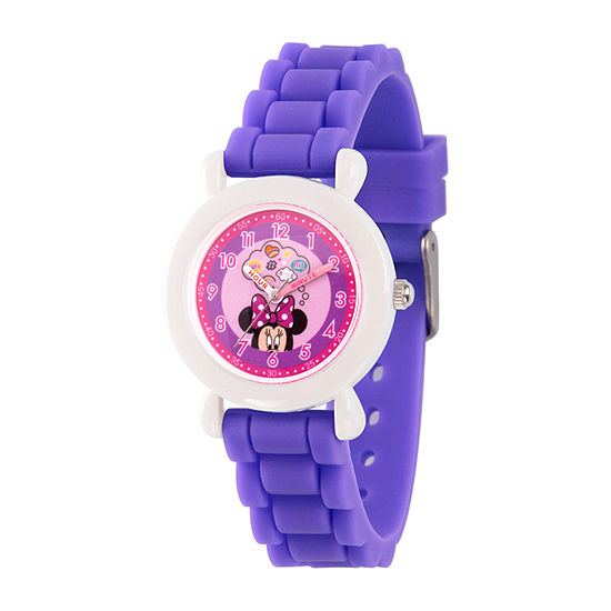 Disney Minnie Mouse Girls Purple Strap Watch Wds000740