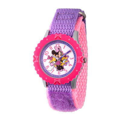 Disney Minnie Mouse Girls Purple Strap Watch-Wds000743