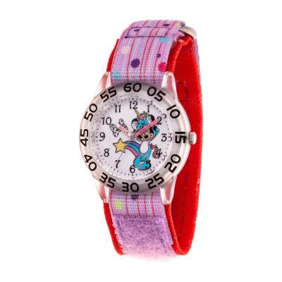 Disney Minnie Mouse Girls Purple Strap Watch-Wds000751