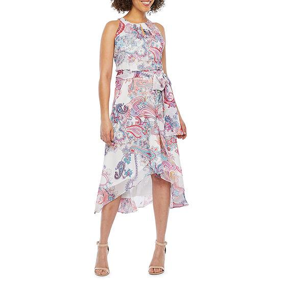R & K Originals Sleeveless Paisley Fit & Flare Dress