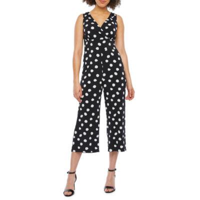 Ronni Nicole Sleeveless Dot Print Jumpsuit