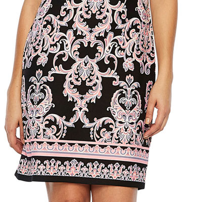 R & K Originals Short Sleeve Paisley Puff Print Sheath Dress