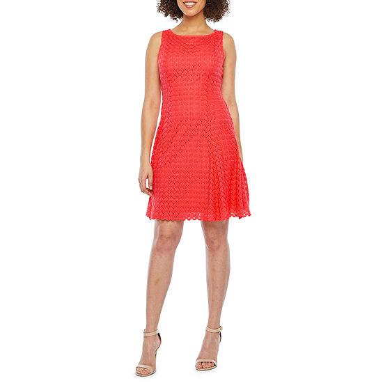 Ronni Nicole Sleeveless Lace Fit Flare Dress